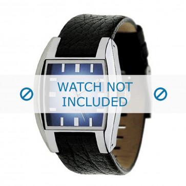 Bracelet de montre Diesel DZ1032 Cuir Noir 17mm