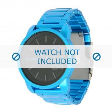 Diesel bracelet de montre DZ1468 Aluminium Bleu 24mm