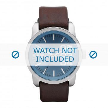 Diesel bracelet de montre DZ1512 Cuir Brun foncé 24mm