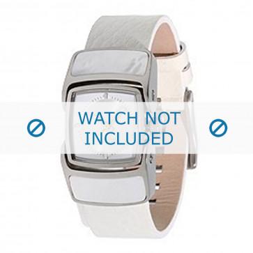 Diesel bracelet de montre DZ5039 Cuir Blanc 16mm