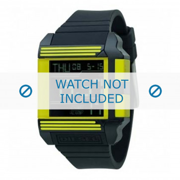 Diesel bracelet de montre DZ7095 Silicone Noir 26mm
