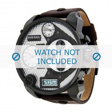 Diesel bracelet de montre DZ7126 Cuir Brun foncé 29mm