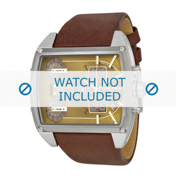 Diesel bracelet de montre DZ7327 Cuir Brun 30mm