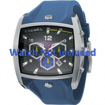 Diesel bracelet de montre DZ4164 Silicone Bleu 28mm