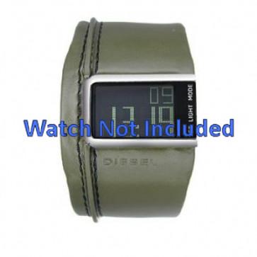 Bracelet de montre Diesel DZ7053 Cuir Vert 28mm