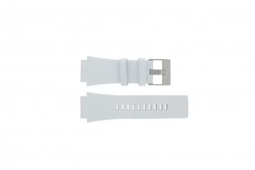 Bracelet de montre Diesel DZ1449 Cuir Blanc 25mm