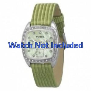 Bracelet de montre Fossil ES1010 Cuir Vert 18mm