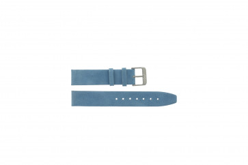 Bracelet de montre en cuir 22mm selle bleue G-33