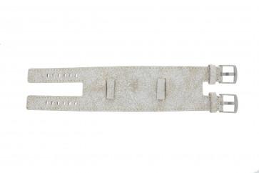 Bracelet de montre Universel UI30 Cuir Blanc 24mm