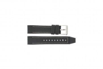 Festina bracelet de montre F16183/40 Cuir Noir 22mm + coutures blanches