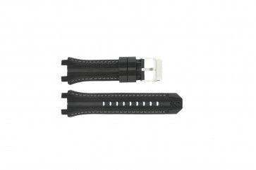 Festina bracelet de montre F16350/A En caoutchouc Noir 23mm + coutures grises