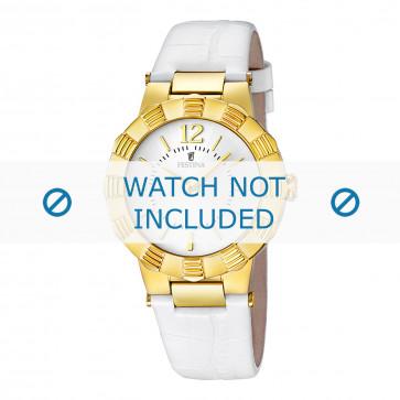 Bracelet de montre Festina F16735/1 Cuir Blanc 10mm