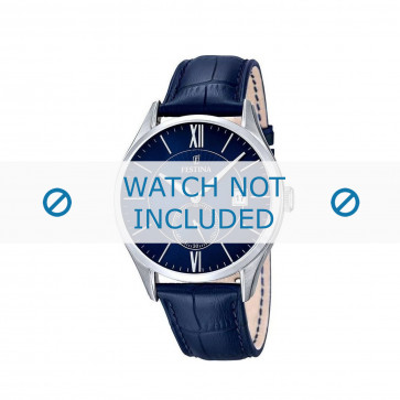 Bracelet de montre Festina F16872.3 Cuir Bleu 21mm