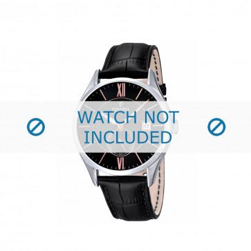 Festina bracelet de montre F16872.1 / F16872.4 Cuir Noir + coutures noires