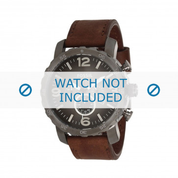 Fossil bracelet de montre JR-1424 Cuir Brun 24mm