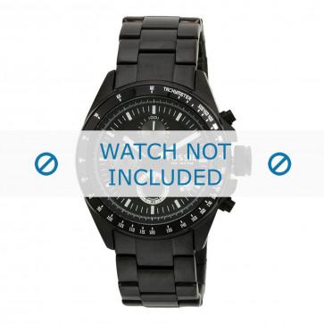 Fossil bracelet de montre CH2601 Métal Noir 22mm