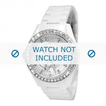Fossil bracelet de montre ES3252 Plastique Blanc 18mm
