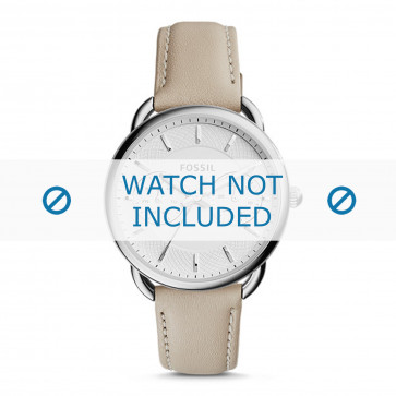 Fossil bracelet de montre ES3806 Cuir Beige 16mm + coutures défaut