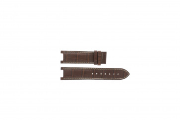 Guess bracelet de montre GC31000G1 / GC31000G / X44001G1 / I31000G1 / i31000G1 Cuir Brun 21mm + coutures blanches