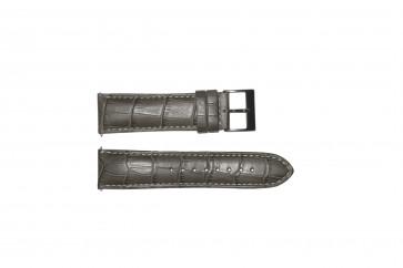 Bracelet de montre Guess W12089G2 / W0079G1 Cuir Gris 22mm