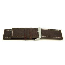 Bracelet de montre en cuir brun 30mm H79
