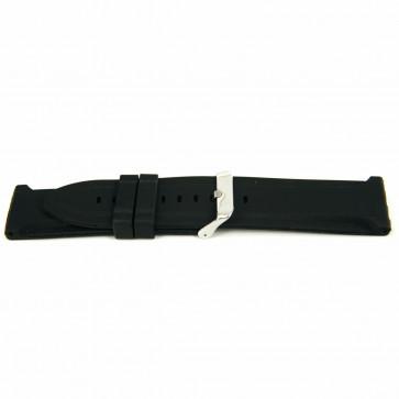 Bracelet de montre En caoutchouc 26mm Noir EX K63 26 2 26