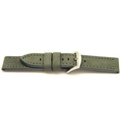 Bracelet de montre en cuir gris 24mm I814