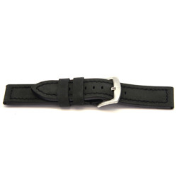 Bracelet de montre en cuir noire 22mm H103