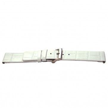 Bracelet de montre Bison 24mm blanc J-53