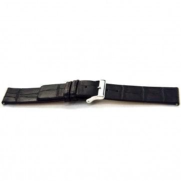 Bracelet de montre Bison 18mm noir J-53