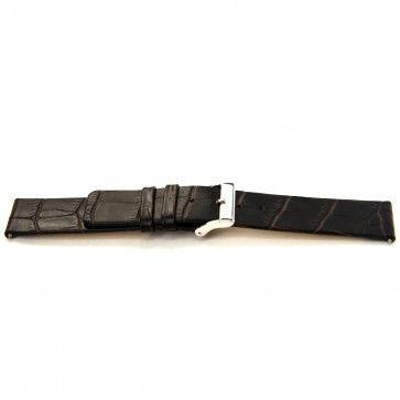 Bracelet de montre Bison 24mm brun foncé J-53