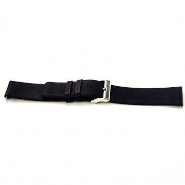 Bracelet de montre Bison 24mm noir J-53
