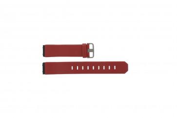Jacob Jensen Bracelet de montre en cuir rouge 800 série 17mm