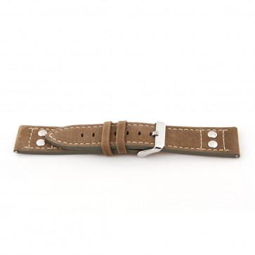 Bracelet de montre Universel I820 Cuir Brun 24mm