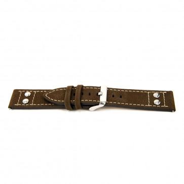 Bracelet de montre Universel I367 Cuir Brun 24mm