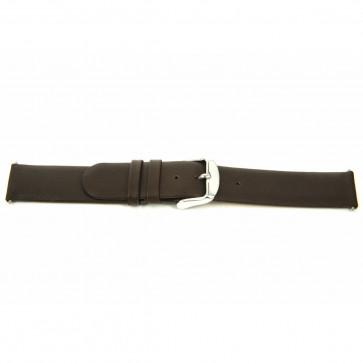 Bracelet de montre en cuir 18mm brun J-56