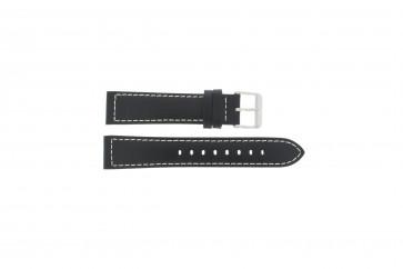 Max bracelet de montre Cuir Noir 24mm