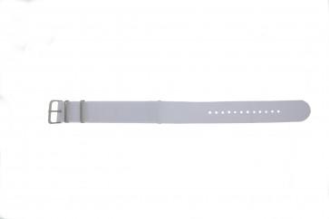 Bracelet de montre Universel EX-WH34 Textile Blanc 22mm