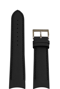 Nautica klockarmband A15102G / A24520G / N16553G Silikon Svart 22mm + sömmar svart
