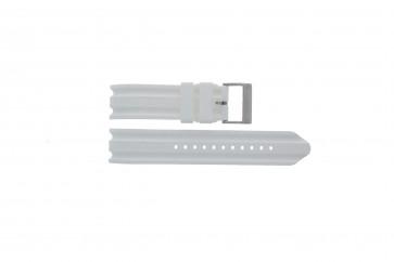 Bracelet de montre Nautica A14608G / A16603G Caoutchouc Blanc 22mm