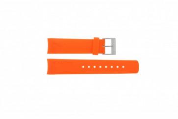 Bracelet de montre Nautica A16567G / A16567G / A31505G / N14538G / N19523 Caoutchouc Orange 22mm