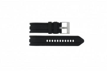 Nautica bracelet de montre A16509G / A21514G / A43005G / A20041G / A15564G En caoutchouc Noir 24mm