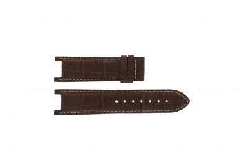 Guess bracelet de montre GC41501G / 145003G1 Cuir Brun 21mm + coutures blanches