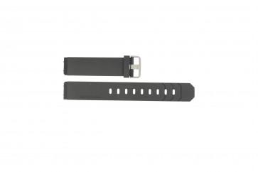 Jacob Jensen bracelet de montre 600 / 800 / 601 / 602 Caoutchouc Noir 19mm