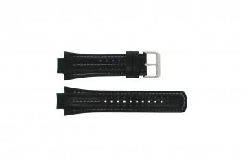 Bracelet de montre Pulsar YM62-X236 / PF3971X1 / PH083X Cuir Noir 15mm