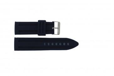 Bracelet de montre Universel 253 Silicone Bleu 26mm