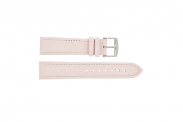 Bracelet de montre en cuir rose 24mm 283