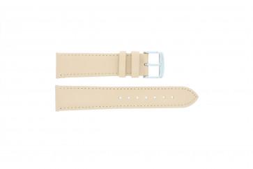 Bracelet de montre en cuir crème / beige 24mm 283