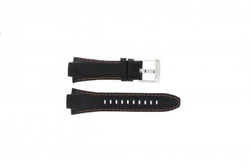 Bracelet de montre Seiko 7T62-0ED0 / H023 00C0 / SNJ007P Cuir Noir 15mm