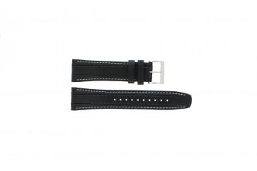 Bracelet de montre Seiko 7T62-0HL0 / SNAB55P1 Cuir Noir 24mm